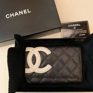 Chanel Quilted Cambon Ligne Flag Wallet